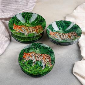 Набор тарелок «Шерхан», 19 предметов: салатник, 6 десертных тарелок, 6 обеденных тарелок, 6 мисок
