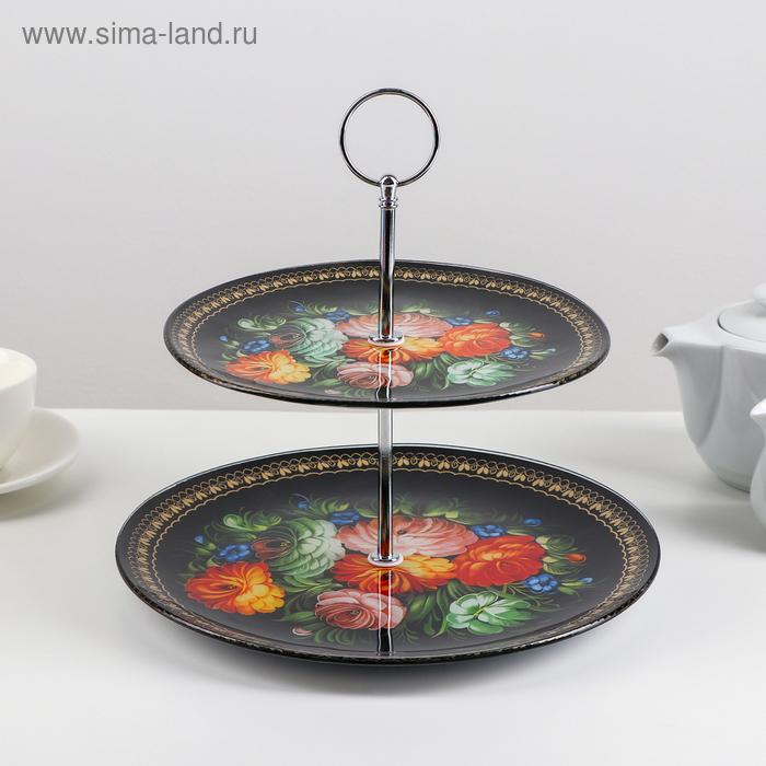 "Dish 2 tier round ""Folk motifs"" 25/20х24 cm"