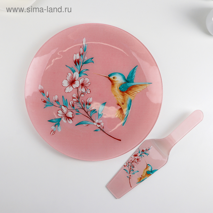 "Tortorice with a shovel ""Hummingbird"" dish 30/2 cm, blade 26,5х7х2 cm"