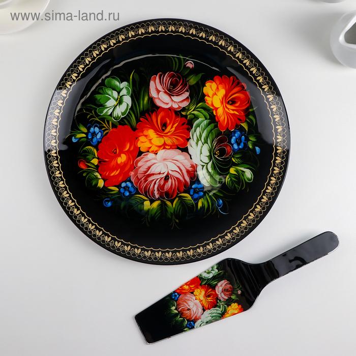 "Tortorice with a shovel ""Folk motifs"" dish 30/2 cm, blade 26,5х7х2 cm"