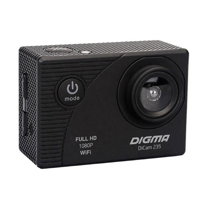 Экшн-камера Digma DiCam 235, черный