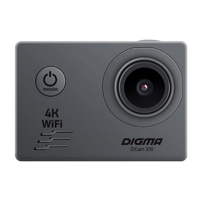 Экшн-камера Digma DiCam 300, серый