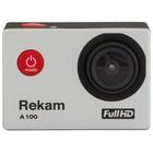 Экшн-камера Rekam A100, 1xCMOS, 12мп, серебристый