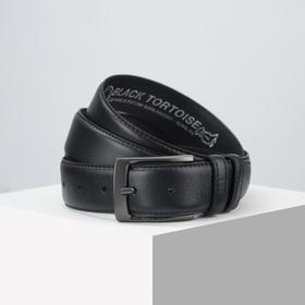 Belt husband 06-01-02-01, 3.5 * 110 * 0.3, smooth, metal buckle, black
