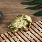 """Netsuke the Polyresin in bronze """"Turtle with Cherepashka"""" 2х4х5 cm"""