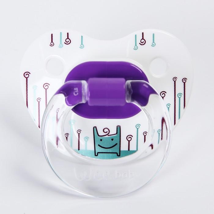 Соска-пустышка ортодонтическая, силикон, от 6 мес., цвет МИКС - фото 982173