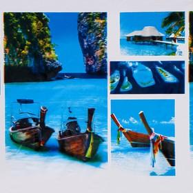 Штора для ванной комнаты Доляна «Мальдивы», 180×180 см, EVA