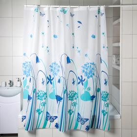 Штора для ванной комнаты Доляна «Сумерки», 180×180 см, EVA