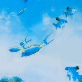 """Штора для ванной 180×180 см """"Рыбки"""", EVA"""