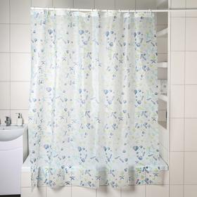 Штора для ванной комнаты Доляна «Море», 180×180 см, PEVA