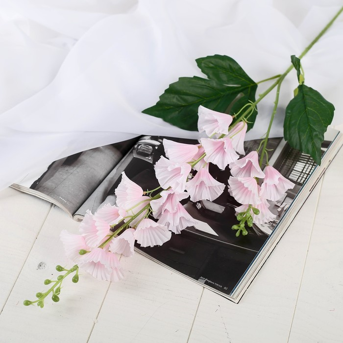 """Цветы искусственные """"Колокольчик волнистый"""" 4*70 см, розовый - фото 4455762"""
