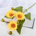 """Цветы искусственные """"Гербера Флора кустовая"""" 9*60 см, жёлтый - фото 4455766"""