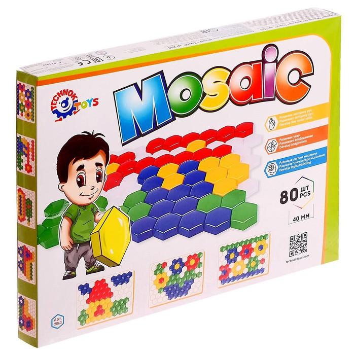 Мозаика для малышей 1, 80 элементов 4 см - фото 697122