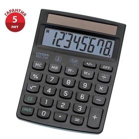 Калькулятор настольный Citizen 8-разрядный, 150x107x35 мм, 2-е питание, чёрный