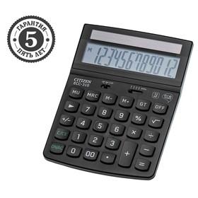 Калькулятор настольный Citizen 12-разрядный, 142x186x37 мм, 2-е питание, чёрный