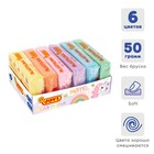 Пластилин 6 пастельных цветов, 300 г, JOVI, на растительной основе, картон, для малышей - фото 977442