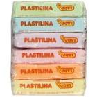 Пластилин 6 пастельных цветов, 300 г, JOVI, на растительной основе, картон, для малышей - фото 977445