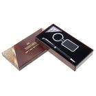набор подарочный 2в1 в карт. коробке (ручка+брелок квадрат вставка по центру) черный 9*17см