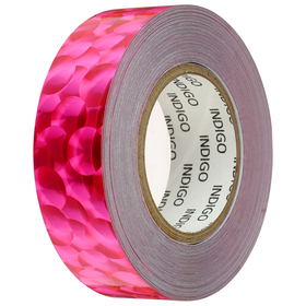 Winding for Hoop with INDIGO lining 3D BUBBLE 20mm*14m, color pink