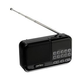 Radio Perfeo ASPEN, FM + 87.5-108 MHz, MP3, USB, microSD, Li-ion 1200 mAh, black