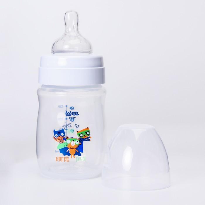 Бутылочка CLASSIC PLUS для кормления, широкое горло, 150 мл., с силиконовой соской