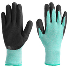 Fishing glove, rubber, color lime