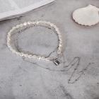 """Кулон """"Цепь"""" топ, жемчужный замок, цвет белый в серебре, 62см - фото 2125907"""
