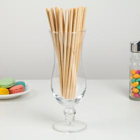 Набор бамбуковых трубочек для коктейлей «Панда», 20×0,3 см