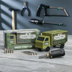 """Набор инструментов в грузовике """"Защитнику от всех поломок"""", подарочная упаковка, 15 предметов"""