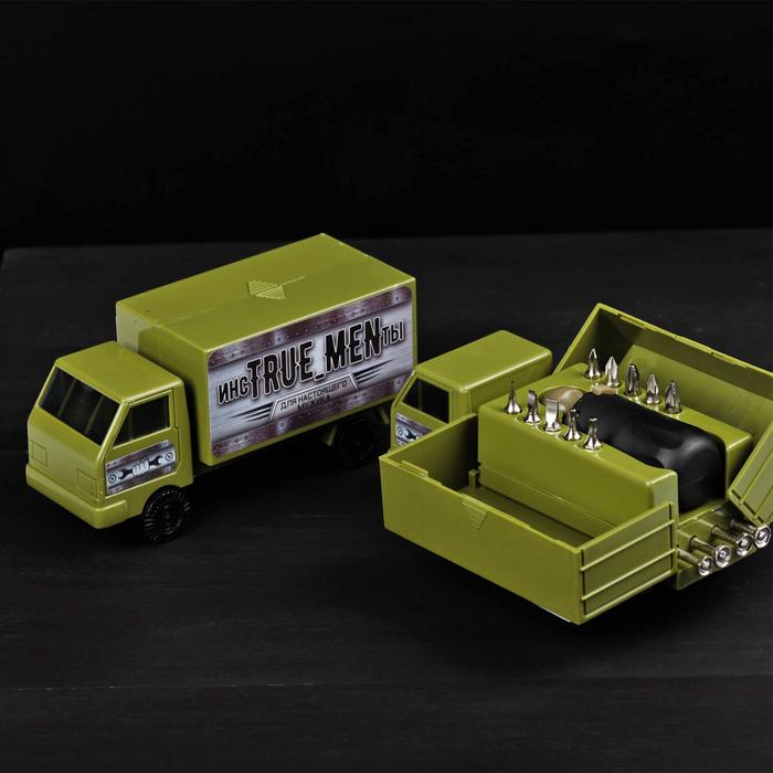 Набор инструментов в грузовике «Для настоящего мужчины», 15 предметов