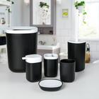 """Набор аксессуаров для ванной комнаты, 6 предметов """"Стиль"""", цвет чёрный"""