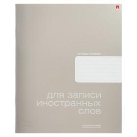 Тетрадь для записи иностранных слов А5, 48 листов Platinum, обложка металлизированный картон