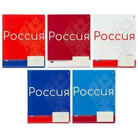 Тетрадь 24 листа в линейку «Тетрадь российского школьника», обложка мелованный картон, фольга, МИКС