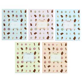 Тетрадь 24 листа в линейку «Сладости», обложка мелованная бумага, ВД-лак, МИКС