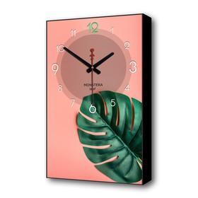 """Часы настенные, серия: Природа, """"Монстера"""", 57х35х4 см"""
