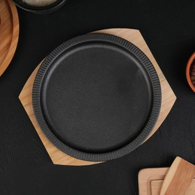 {{photo.Alt || photo.Description || 'Сковорода «Круг. Гофре», 21×2 см, на деревянной подставке'}}
