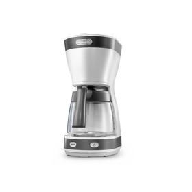 Кофеварка Delonghi ICM 16210 WS, капельная, 600 Вт, 1.25 л, бело-серая