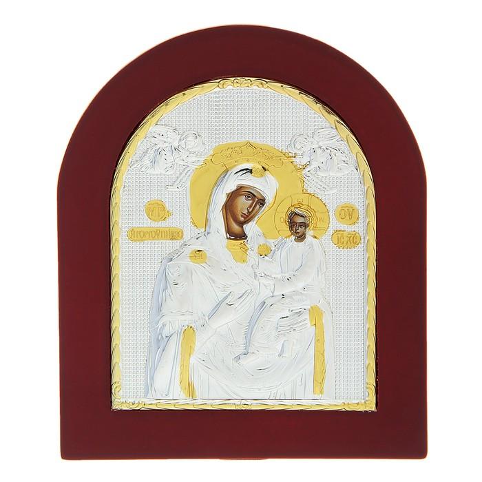 """Икона """"Пресвятая Богородица"""" на дереве, на подставке"""
