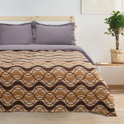 "Bedspread tapestry Ethel ""Waves"" (type 2)120*200 cm, density-300 g/m2, 30% cotton,70% p/e"