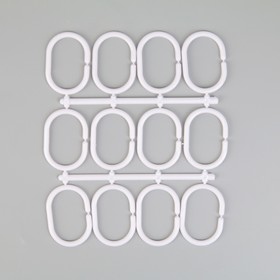 Набор крючков для штор, 12 шт, цвет белый