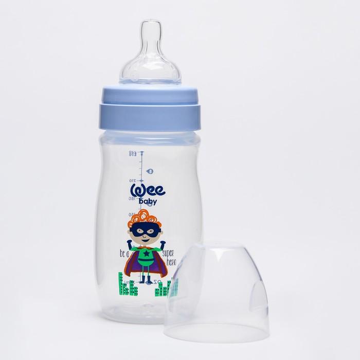 Бутылочка CLASSIC PLUS для кормления, широкое горло, 250 мл., с силиконовой соской р.1