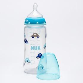 Бутылочка для кормления, 300 мл.,средний поток, от 0-6мес., МИКС