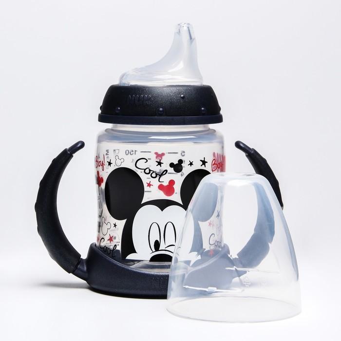 """Бутылочка-поильник, """"Микки"""", 150 мл., от 6 мес., цвет черный - фото 105538500"""