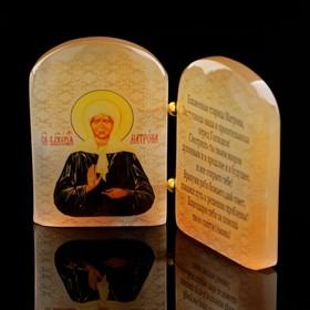 "The icon ""Matrona"", with prayer, Selenite"