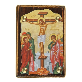 "Icon ""the Crucifixion"" on the suspension"