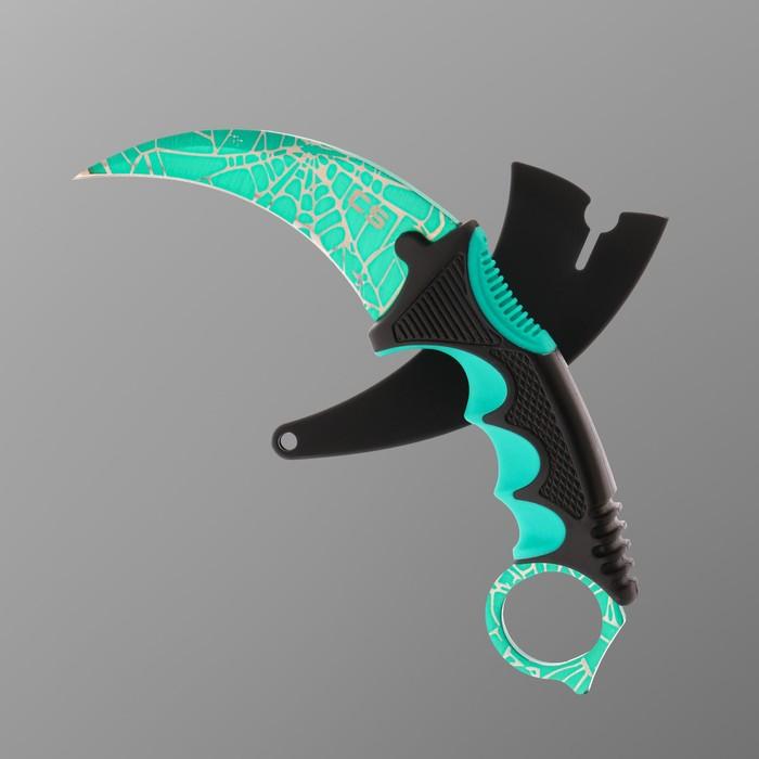 Нож-керамбит зеленый