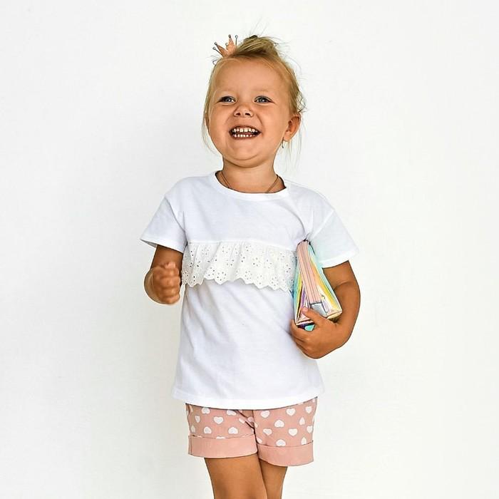 Шорты для девочки MINAKU Cotton collection: Romantic, цвет розовый, рост 98 см