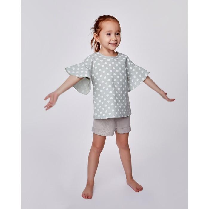Шорты для девочки MINAKU: cotton collection romantic, цвет серый, рост 92 см