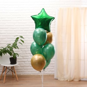 "A bouquet of balloons ""happy birthday"", set of 7 PCs Color green, gold"