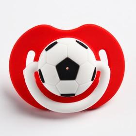 """Пустышка """"Футбол"""", ортодонтическая, от 0 мес., цвет красный"""